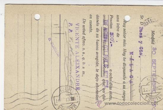 Postales: TARJETA POSTAL COMERCIAL PUBLICIDAD VICENTE ALEIXANDRE . BISUTERIA . MADRID - MALAGA 1920 nº 271 - Foto 2 - 38658714
