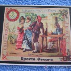 Postales: POSTAL ANTIGUA COSECHEROS LAMADRID Y CALDERON. JEREZ. OPORTO OSCURO. ALMACENISTAS DE VINOS. Lote 48819744