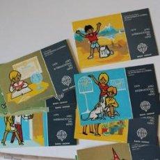Postales: COLECCIÓN DE 12 TARJETAS POSTALES DE LA LOTERÍA NACIONAL. SERIE L. DIBUJOS DE E. DE LARA.. Lote 38806355