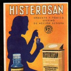 Cartoline: PUBLICITARIA. HISTEROSAN. MEDICAMENTO. FARMACIA. . Lote 38848984