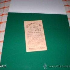 Postales: ESTAMPA AÑOS 20 CON PUBLICIDAD DE PÍLDORAS DE VIDA DEL DR ROSS. Lote 39061288