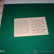 Postales: RARA PUBLICIDAD CROMO DE CEREGUMIL FERNÁNDEZ, AÑOS 40-50. EL HIERRO. Lote 39061434