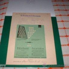 Postales: RARO ANUNCIO AÑOS 40-50 DE ANTIRRATAS PARATEBIN DE MADRID. Lote 39061548