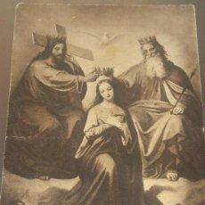 Postales: ANTIGUA TARJETA POSTAL RELIGIOSA PUBLICIDAD HERMANOS KUNZLI BARCELONA A RUZAFA VALENCIA. Lote 39172817
