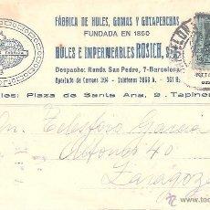 Postales: TARJETA POSTAL COMERCIAL - BARCELONA FABRICA HULES ROSICH. Lote 39310627