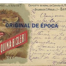 Postales: (PS-36593)POSTAL PUBLICITARIA FERRO-QUINA-BISLERI(BARCELONA). Lote 39328093