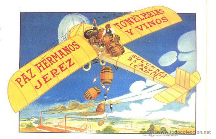 PAZ HERMANOS, TONELERIAS Y VINOS, JEREZ (Postales - Postales Temáticas - Publicitarias)