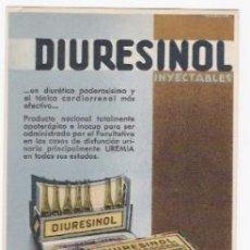 Postales: DIURESINOL INYECTABLES-POSTAL PROPAGANDA. Lote 39846040