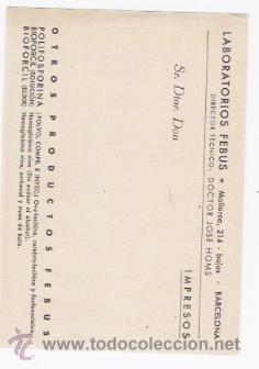 Postales: DIURESINOL INYECTABLES-POSTAL PROPAGANDA - Foto 2 - 39846040