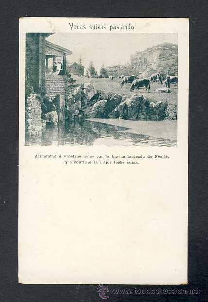 POSTAL PUBLICITARIA DE LECHE NESTLE (Postales - Postales Temáticas - Publicitarias)