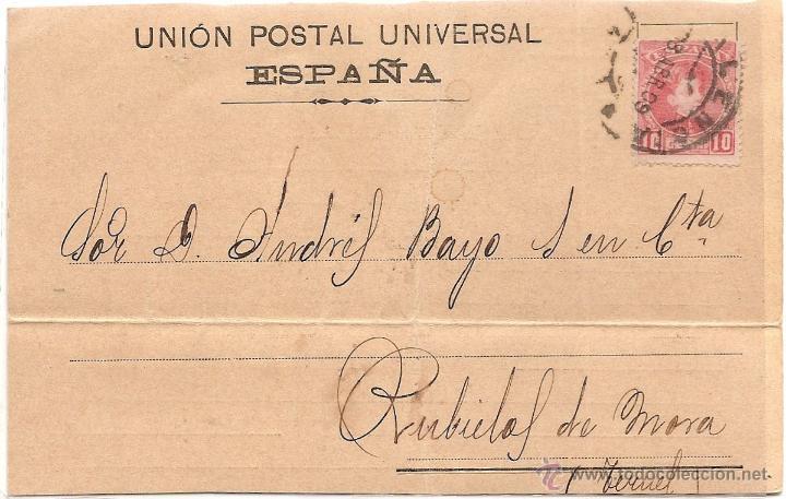 POSTAL CIRCULADA DE JOSE Mª CUADRADO - VALENCIA - AÑO 1909 - UNION POSTAL UNIVERSAL ESPAÑA (Postales - Postales Temáticas - Publicitarias)