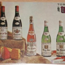 Postales: POSTAL GRANDES VINOS TORRES VILAFRANCA DEL PENEDES - ESPAÑA DESDE 1870 - DESCRIPCIÓN TIPOS DE VINO. Lote 40899157