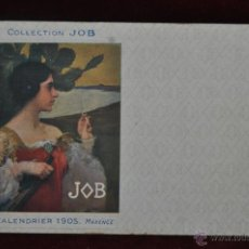 Postales: POSTAL COLLECTION JOB. CALENDRIER 1905. MAXENCE. Lote 41059008