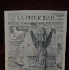 Postales: POSTAL - LA PUBLICIDAD. 10 SETIEMBRE 1902. SIN CIRCULAR. Lote 41060013