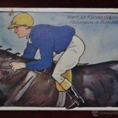 Postales: ANTIGUA POSTAL DE HIPICA. JINETE. ED. RAPHAEL TUCK. POPULAR RACING COLOURS.. Lote 41060160