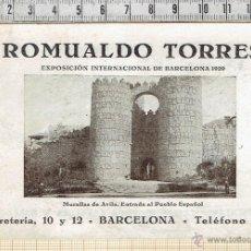 Postales: POSTAL PUBLICITARIA EXPOSICION INTERNACIONAL DE BARCELONA 1929.. Lote 41068776