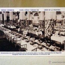 Postales: ANTIGUA POSTAL, TARJETA POSTAL, PEDRO DOMECQ, VINOS, COÑAC Y GRAND VIN , JEREZ DE LA FRONT. Lote 41107254