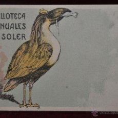Postales: TARJETA POSTAL BIBLIOTECA MANUALES SOLER BARCELONA ORIGINAL EPOCA COLECCION . Lote 41193526
