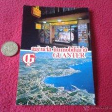 Postales: POSTAL PUBLICITARIA AGENCIA INMOBILIARIA GUANTER L'ESCALA COSTA BRAVA GIRONA MALLAL 1982 N/E N/C. Lote 41242832