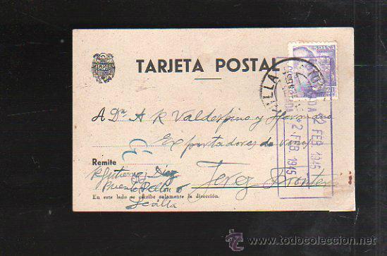 TARJETA POSTAL PUBLICITARIA. VINOS RAMON GUTIERREZ DIEZ, SEVILLA. 1945 (Postales - Postales Temáticas - Publicitarias)