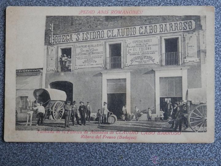 RIBERA DEL FRESNO FÁBRICA DE ANISADOS POSTAL ANTIGUA (Postales - Postales Temáticas - Publicitarias)