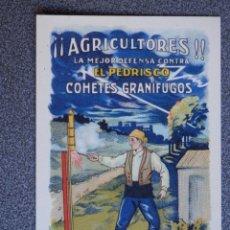 Postales: COHETES GRANÍFUGOS MARCA ESPINOS POSTAL ANTIGUA PUBLICITARIA . Lote 41470667