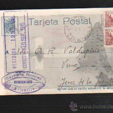 Postales - TARJETA POSTAL PUBLICITARIA. REPRESENTANTE CAYETANO RAMIREZ. ARJONILLA (JAEN). 1945 - 41499123