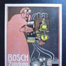 Postales: ANTIGUA POSTAL PUBLICITARIA ALEMANA - ROBERT BOSCH - AUTOMOCIÓN - AUTOMOVIL, COCHES,TALLERES -. Lote 41580258