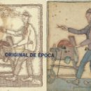 Postales: (PS-38994)POSTAL CON DIBUJO ORIGINAL Y TARJETA DEL ILUSTRADOR JULI,PIEDRAS DE AFILAR JAIME MESTRE. Lote 41582328