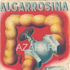 Postales: POSTAL PUBLICIDAD FARMACÉUTICA ASTRINGENTE ALGARROSINA. AÑOS 40. BENICARLO, CASTELLON. Lote 41717314