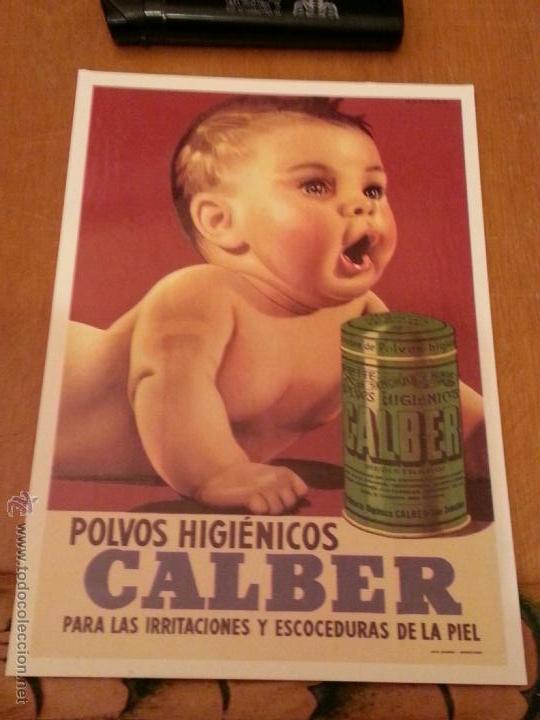 POSTAL PUBLICITARIA POLVOS HIGIENICOS CALBER (Postales - Postales Temáticas - Publicitarias)