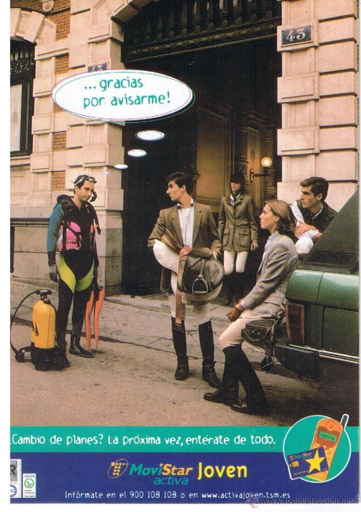 POSTAL: MOVISTAR JOVEN (Postales - Postales Temáticas - Publicitarias)