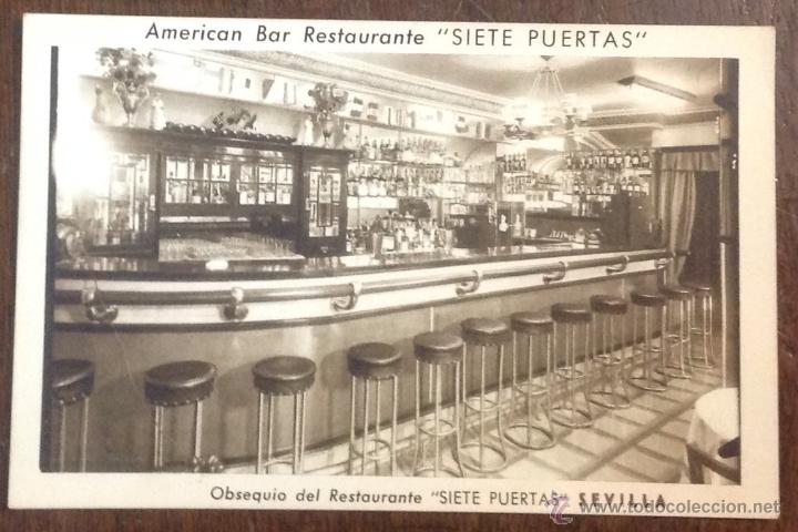 Postal american bar restaurante siete puertas comprar postales publicitarias antiguas en - Restaurante 7 puertas barcelona ...