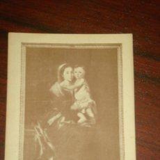 Postales: ANTIGUA POSTAL LA VIRGEN DEL ROSARIO DE MURILLO. PUBLICITARIA. CIRCULADA.. Lote 42248380