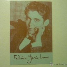 Postales: POSTAL FEDERICO GARCIA LORCA- PATRONATO CULTURA VILANOVA DEL CAMI. Lote 42289098