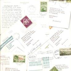 Postales: SERIE COMPLETA DE 9 POSTALES CIRCULADAS DE DIFERENTES PAISES DE LA EMPRESA ANTIBIÓTICOS S.A. AÑOS 50. Lote 42296479