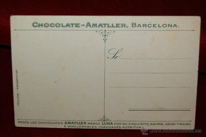Postales: POSTAL PUBLICITARIA DE CHOCOLATE-AMATLLER. BARCELONA. SIN CIRCULAR - Foto 2 - 42517704