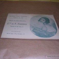 Postales: POSTAL FABRICA DE PASTAS ALIMENTICIAS FCO.P.FIGUERAS RAMBLA DE SANT JOSE 11 BARCELONA . Lote 42652805