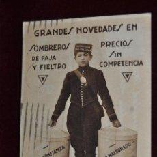 Postales: ANTIGUA POSTAL PUBLICITARIA DE CASA MALDONADO. FOT. VELASCO. HUECOGRABADO MUMBRU. CIRCULADA. Lote 42888127