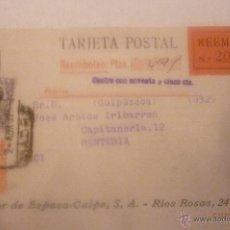 Postales: ESPASA CALPE . CIRCULADA AÑO 1932. Lote 42918671