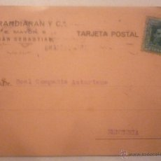 Postales: BARANDIARÁN Y Cª. CIRCULADA AÑO 1927. Lote 42918755