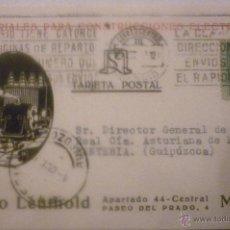 Postales: MATERIALES PARA CONSTRUCCIONES ELÉCTRICAS. PABLO LEUTHOLD. MADRID.CIRCULADA 1928. Lote 42919195