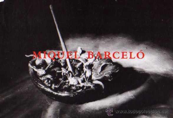 MIQUEL BARCELÓ PINTURAS Y ESCULTURAS ESCRITA CIRCULADA SELLO (Postales - Postales Temáticas - Publicitarias)
