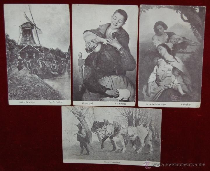 LOTE DE 4 POSTALES PUBLICITARIAS DE CHOCOLATE AMATLLER. PERSONAJES Y LUGARES. FOTPIA. THOMAS (Postales - Postales Temáticas - Publicitarias)