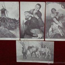 Postales: LOTE DE 4 POSTALES PUBLICITARIAS DE CHOCOLATE AMATLLER. PERSONAJES Y LUGARES. FOTPIA. THOMAS. Lote 42951251