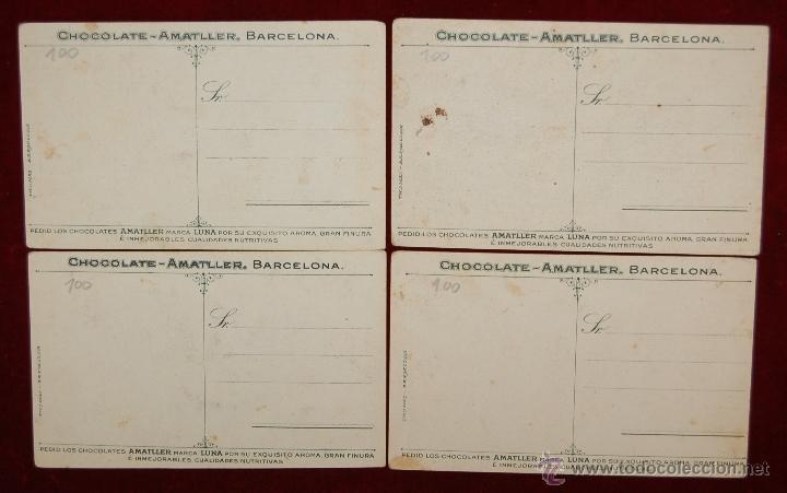 Postales: LOTE DE 4 POSTALES PUBLICITARIAS DE CHOCOLATE AMATLLER. PERSONAJES Y LUGARES. FOTPIA. THOMAS - Foto 2 - 42951251
