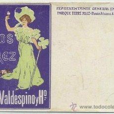 Postales: POSTAL DE PUBLICIDAD VALDESPINO VINOS DE JEREZ P-PUB-206,8. Lote 43003109