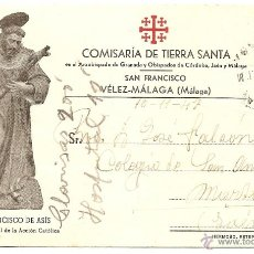 Postales: VÉLEZ-MÁLAGA (MÁLAGA) - TARJETA POSTAL COMISARÍA DE TIERRA SANTA - CIRCULADA AÑO 1947. Lote 232048900