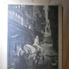 Postales: MUY ANTIGUA POSTAL PUBLICITARIA - TEATRO PRINCIPAL - LADY GODIVA - BARCELONA 1912. Lote 43064974