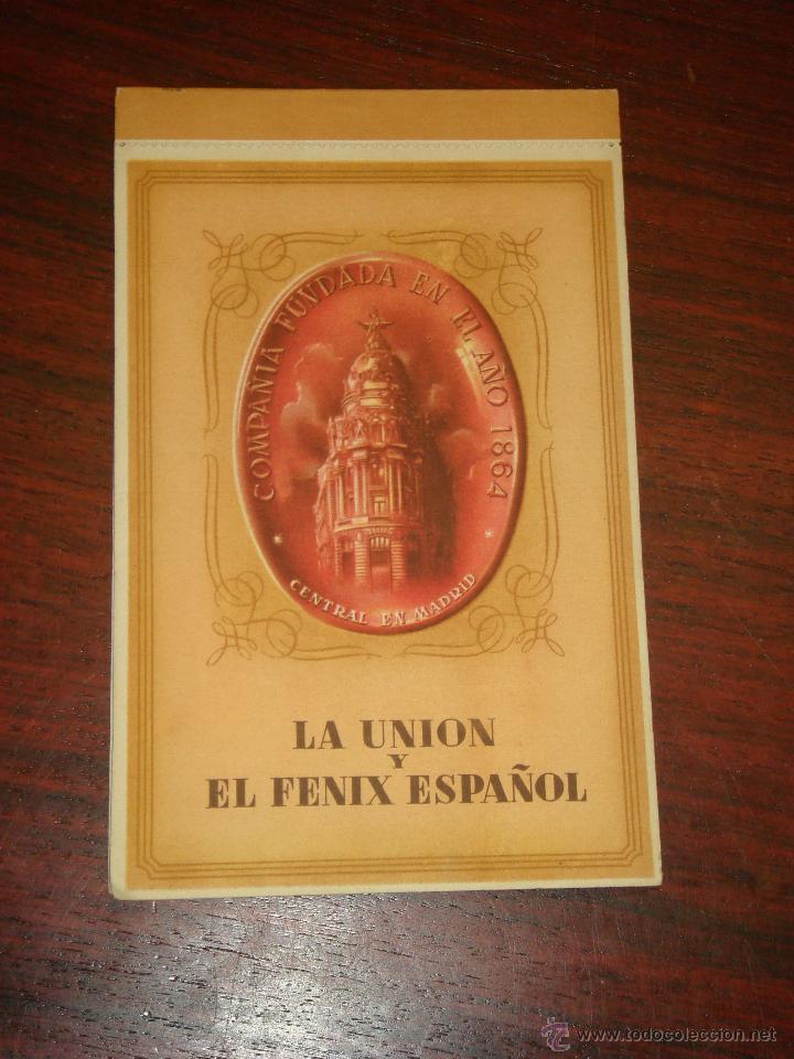 ANTIGUO ALBUM DE 12 POSTALES DE LA UNIÓN Y EL FÉNIX ESPAÑOL. SIN CIRCULAR. (Postales - Postales Temáticas - Publicitarias)